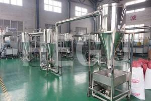 SHMS65 200-250kgs/h PP PE WPC granule making machine WPC granulator
