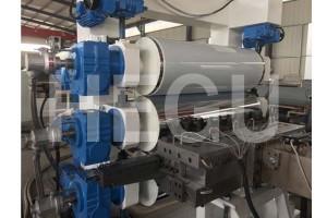 Wholesale Price Pvc Drainage Pipe Production Line - PVC sheet machine   PVC SPC floor making machine – WOOD-PLASTIC