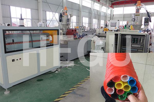 Corrugated pipe machine  PE carbon spiral pipe making machine Featured Image