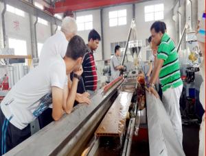 Kända Trä Plast WPC maskin trä plast maskin - Kina Qingdao Hegu Wood-Plast WM-39