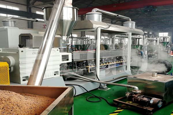 SHMS75 300-350 kgs/h PP PE WPC granule making machine WPC granulator Featured Image