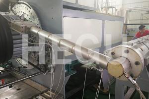 වංගු සහිත යන්ත්රය විශාල විෂ්කම්භය PE නල 2200-3000mm