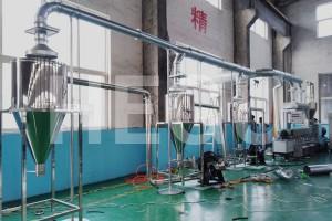 Plastic recycle machine PVC init nga cut granulating produksyon linya